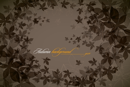 lea: Autumn Background   Falling Leaves   EPS10 Compatibility Required