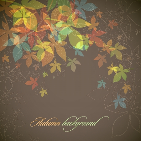 autumn background: Autumn Background   Falling Leaves Illustration