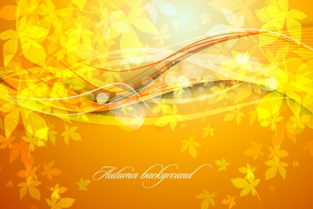 Autumn Background   Falling Leaves 向量圖像