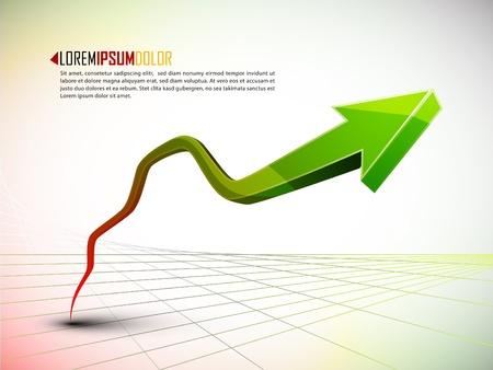 ertrag: 3d Graph Anstieg der Gewinne oder Gewinne