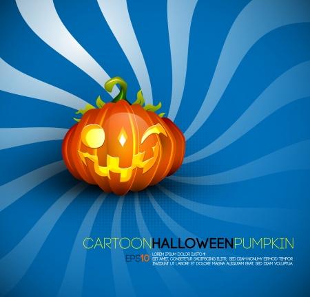 Funny Halloween Pumpkin with Big Smile Stock Vector - 15937720