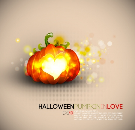 Halloween Pumpkin Spreading Love Vector