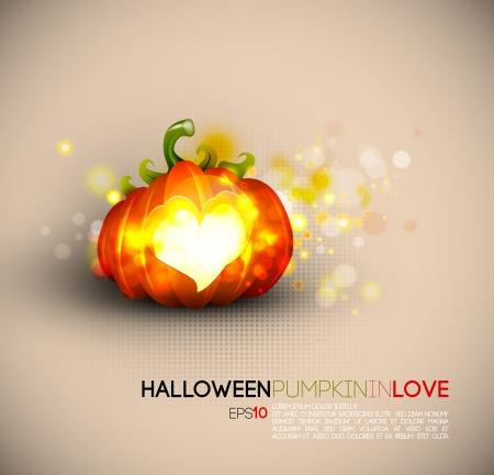 Halloween Pumpkin Spreading Love Stock Vector - 15937717