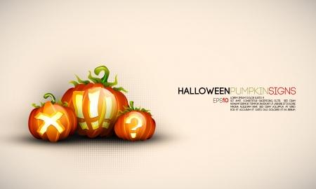 Halloween Pumpkin Signs 向量圖像