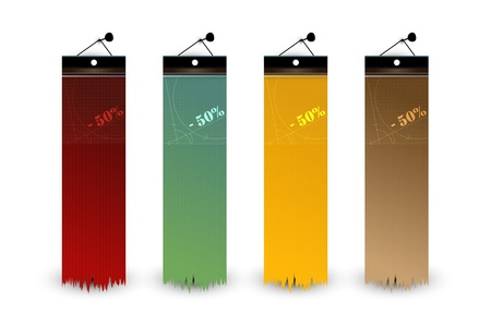 Set of Blank Tags  Labels of Different Colors Illustration