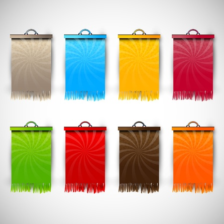 Set of Blank Tags  Labels of Different Colors   Materials   Sale Time   EPS10 Resources 向量圖像