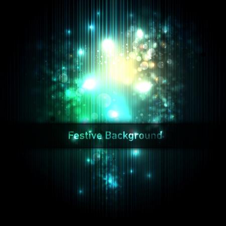 Festive background of glittering lights  向量圖像
