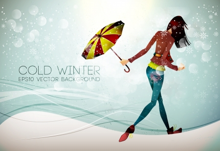Stepping into the Winter  Stock Vector - 16688014