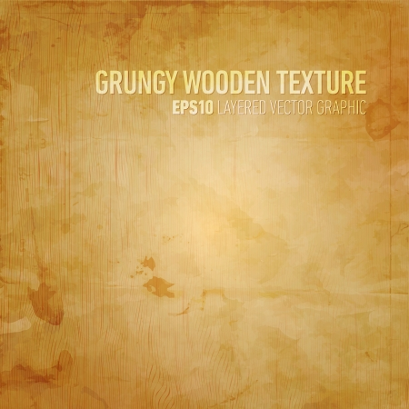 wood background texture: Grungy Wooden Texture   Layered EPS10 Vector Background