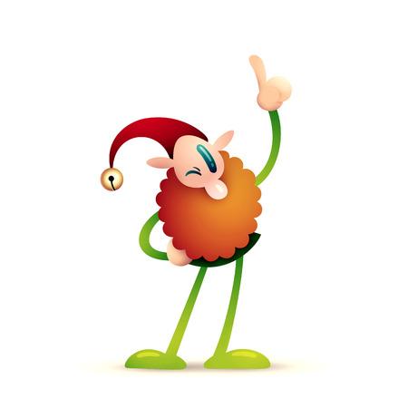 Christmas Leprechauns, Elf, Goblin | High Res Illustration on White Background