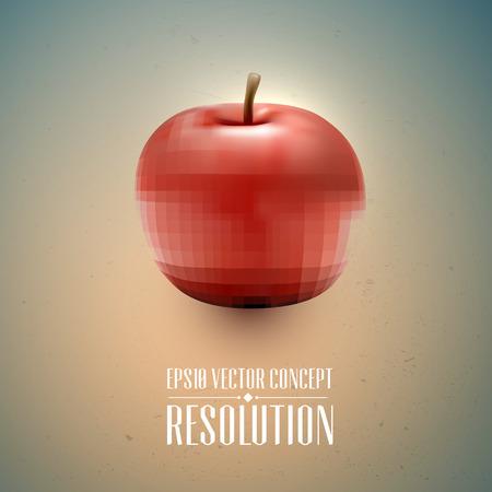 Resolution Concept - Apple, Health  向量圖像