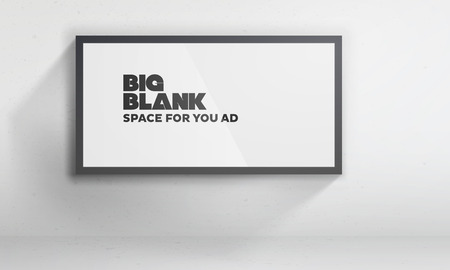 Blank billboard template | Easy to change content on the according layer | EPS10 Vector Background Vector