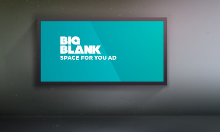 according: Blank billboard template | Easy to change content on the according layer | EPS10 Vector Background