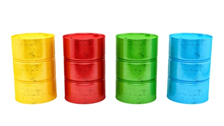 flank: render of 4 barrels, isolated on white