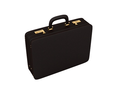 render of a brown leather briefcase on a white background  Stock Photo - 17486315