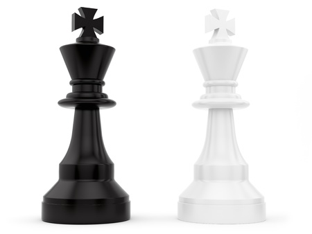 render of chess pieces  photo