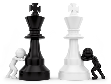 diplomacy: render of chess pieces