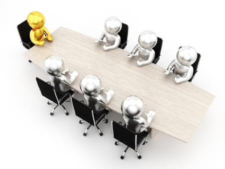 hacer de los seres humanos en una mesa