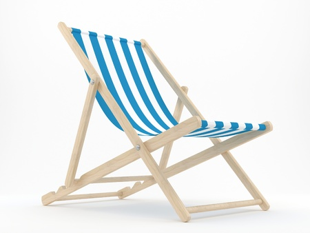 chairs: render of a deck chair on a white background