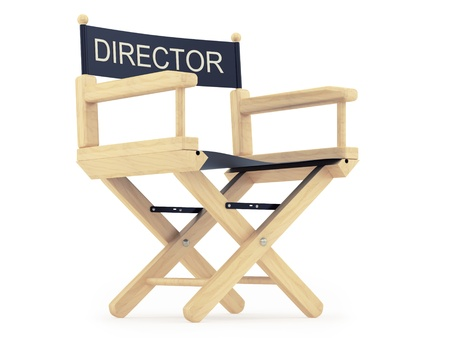 take action: render of a director chair  Stock Photo
