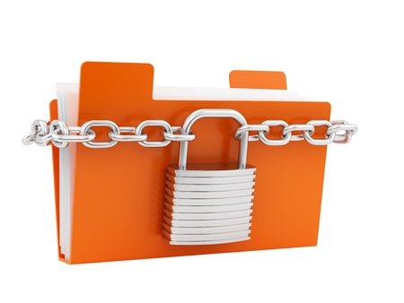 render of a folder in chain  Stock Photo - 16955212