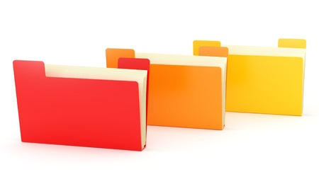 render of colorful folders  Stock Photo - 16955200