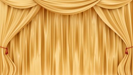 hacer cortinas de oro Foto de archivo