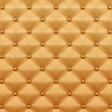 stylish chair: render of gold leather texture