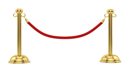 velvet rope: render of gold stanchions