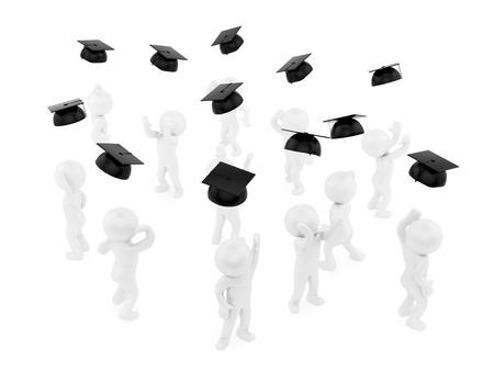 throw up: render of graduates