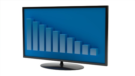 business graph on screen  Stock Photo