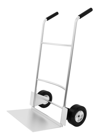 render of an empty hand truck, isolated on white  photo