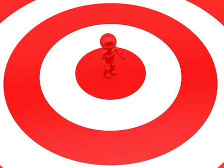Human on target  Stock Photo - 16907691