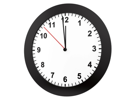 render of a clock, isolated on white  Stock Photo