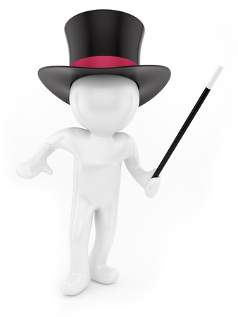 render of a magician,isolated on white  Stock Photo