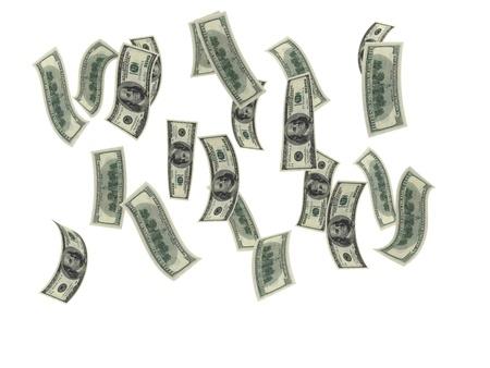 money rain: money rain  Stock Photo