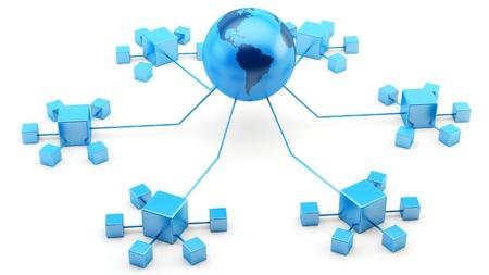 Rendern der Netzwerke an das Internet angeschlossenen
