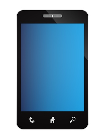 render of a smartphone, isolated on white Stock Photo - 16889681