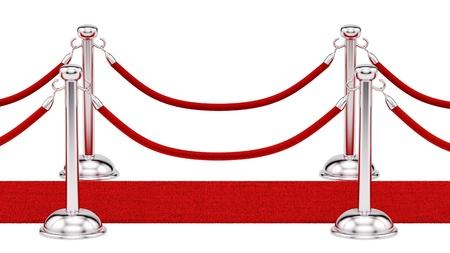 rinde de barras de plata y una alfombra roja