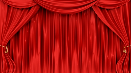awards ceremony: render of red curtains