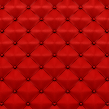 furniture detail: render of red leather texture
