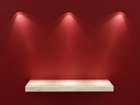 render of an empty shelf  photo