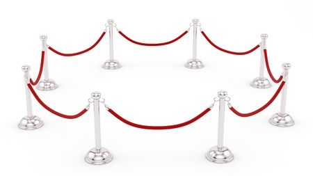 render of silver stanchions  photo
