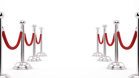 render of silver stanchions