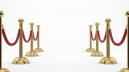 velvet rope: render of golden stanchions