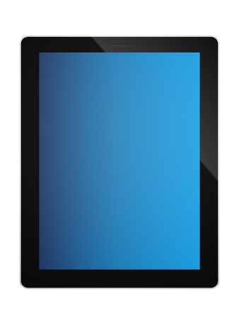 render of a tablet PC, isolated on white  Stock Photo - 16876315