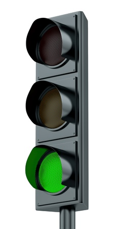 render of green traffic lights  Stock Photo