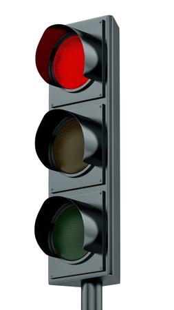 traffic signal: render of red traffic lights
