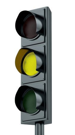 semaphore: render of yellow traffic lights