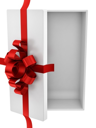 render of an empty gift box, isolated on white  Stock Photo
